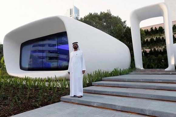 В ОАЭ открыли первое напечатанное на 3D-принтере здание